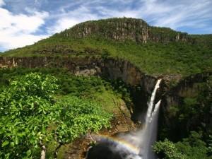 Salto do Rio Preto em Alto Paraíso_reprodução